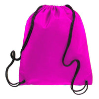 BAGANDTOTE.COM DRAWSTRING Hot Pink Non-Woven Polypropylene Drawstring Backpack