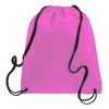BAGANDTOTE.COM DRAWSTRING Light Pink Non-Woven Polypropylene Drawstring Backpack