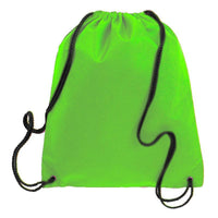 BAGANDTOTE.COM DRAWSTRING Lime Non-Woven Polypropylene Drawstring Backpack