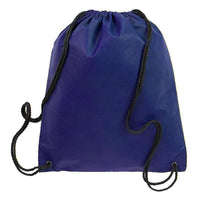 BAGANDTOTE.COM DRAWSTRING Navy Non-Woven Polypropylene Drawstring Backpack