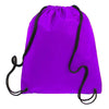 BAGANDTOTE.COM DRAWSTRING Purple Non-Woven Polypropylene Drawstring Backpack