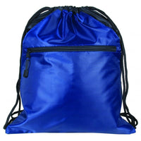 BAGANDTOTE.COM DRAWSTRING Zippered Polyester Drawstring Bag with 2 Slip Pockets