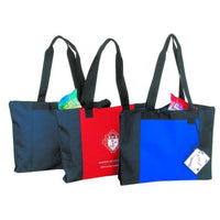 BAGANDTOTE.COM TOTE BAG Polyester Zippered Tote Bag