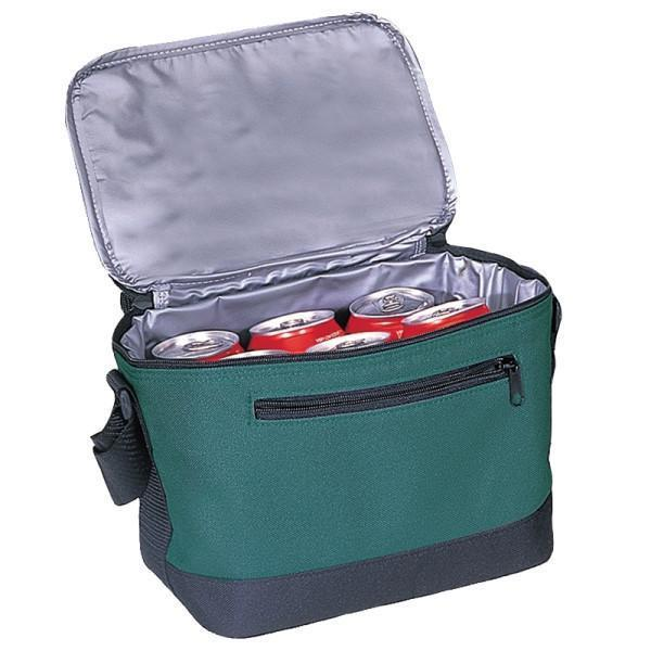 BAGANDTOTE COOLER BAG FOREST GREEN DELUXE POLYESTER COOLER LUNCH BAG