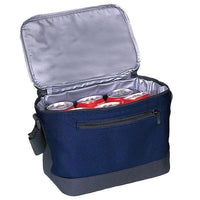 BAGANDTOTE COOLER BAG NAVY DELUXE POLYESTER COOLER LUNCH BAG