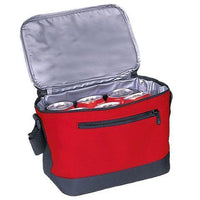 BAGANDTOTE COOLER BAG RED DELUXE POLYESTER COOLER LUNCH BAG