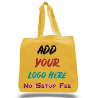 BAGANDTOTE COTTON TOTE BAG CUSTOM ECONOMICAL 100% COTTON CHEAP TOTE BAGS W/GUSSET