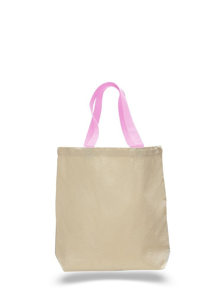 3890be016f Cotton Canvas Tote Bags with Contrast Handles