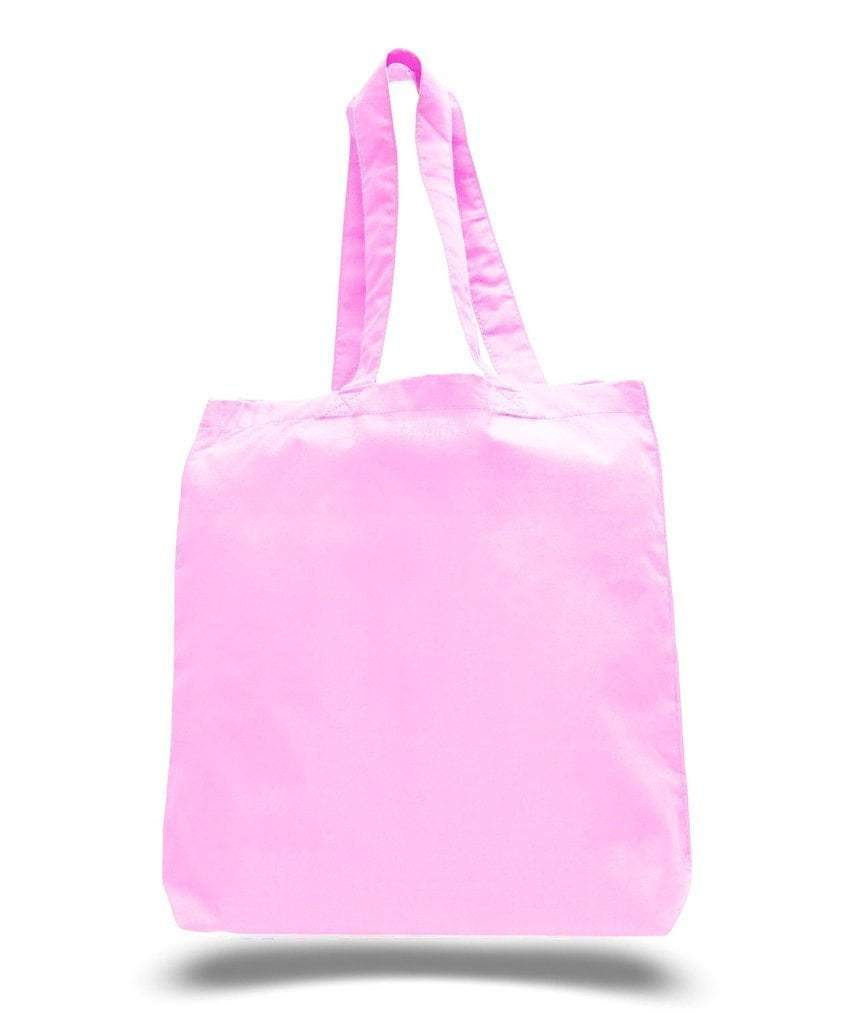 BAGANDTOTE COTTON TOTE BAG LIGHT PINK CUSTOM ECONOMICAL 100% COTTON CHEAP TOTE BAGS W/GUSSET