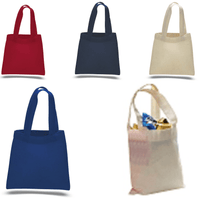BAGANDTOTE COTTON TOTE BAG MINI Cotton Tote Bag with Fabric Handles