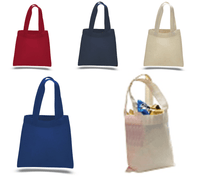 MINI Cotton Tote Bag with Fabric Handles