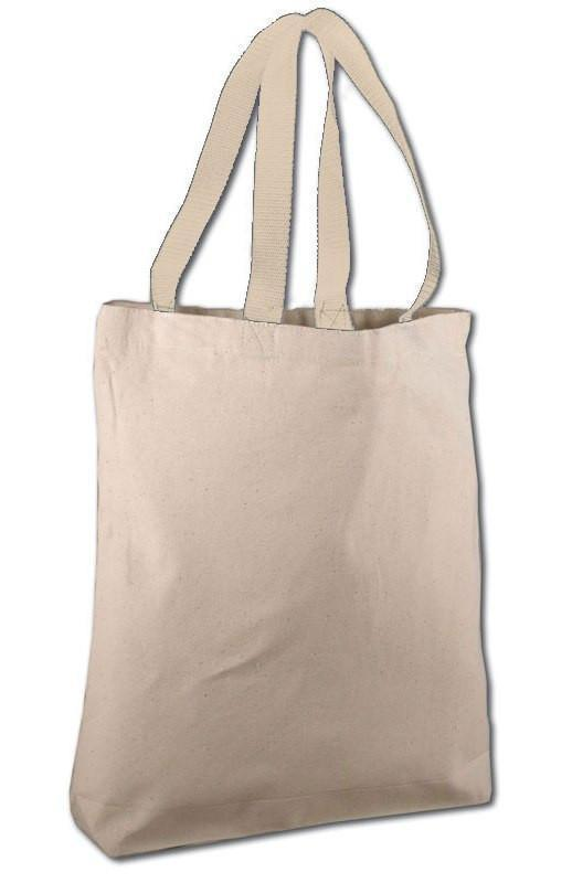BAGANDTOTE COTTON TOTE BAG NATURAL Cotton Canvas Tote Bags with Contrast Handles