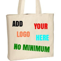BAGANDTOTE COTTON TOTE BAG NATURAL Custom Convention Tote Port Authority®