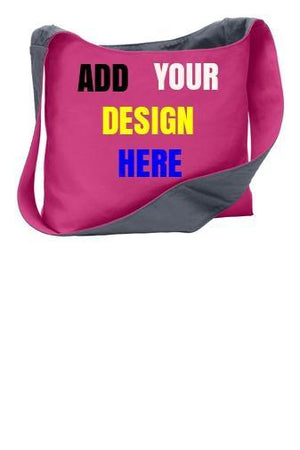 BAGANDTOTE COTTON TOTE BAG PINK Custom Cotton Canvas Tote Bag Port Authority®