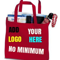 BAGANDTOTE COTTON TOTE BAG RED Custom Convention Tote Port Authority®
