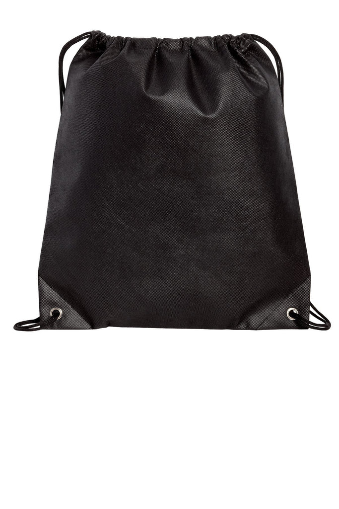 add1356864 BAGANDTOTE DRAWSTRING BLACK Polypropylene Non-Woven Cinch Pack   Drawstring  Bag
