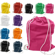 BAGANDTOTE DRAWSTRING SET OF 100 ECONOMICAL SPORT COTTON DRAWSTRING BAG CINCH PACKS