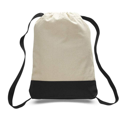 BAGANDTOTE DRAWSTRING SET OF (( 24 )) TWO TONE CANVAS SPORT BACKPACKS