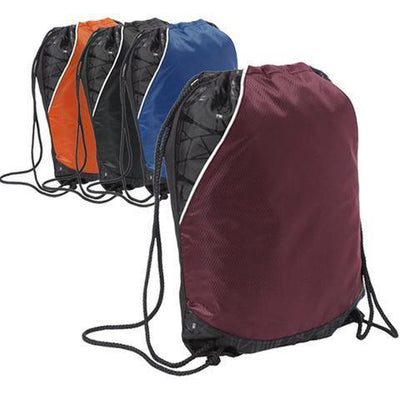 BAGANDTOTE pol Polyester Diamond Rival Cinch Pack Drawstring