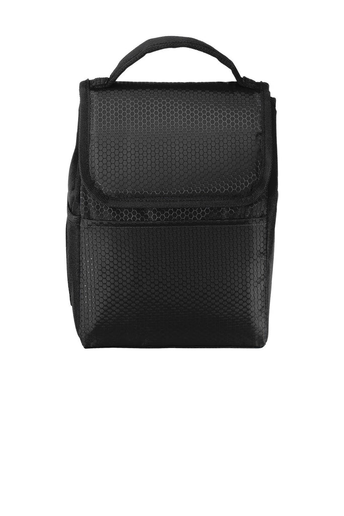 BAGANDTOTE Polyester BLACK Honeycomb Polyester Lunch Bag Cooler