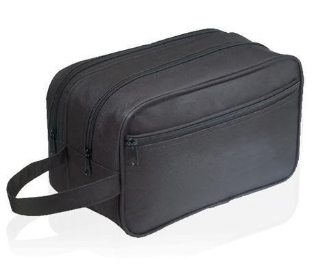 BAGANDTOTE Polyester BLACK Large Double Travel Kit