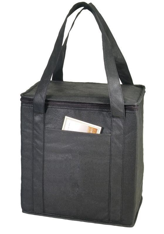 BAGANDTOTE Polyester BLACK NON-WOVEN COOLER TOTE