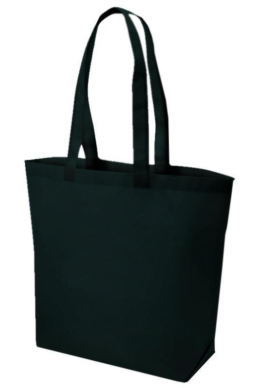 BAGANDTOTE Polyester BLACK Polypropylene Cheap Tote Bag for Grocery