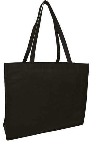 BAGANDTOTE Polyester BLACK Promotional Large Size Non-Woven Tote Bag