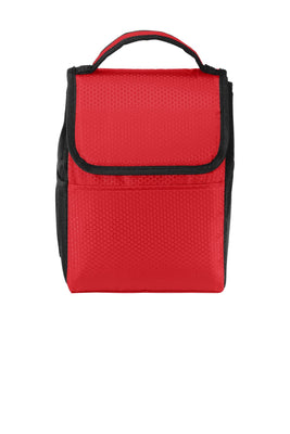 BAGANDTOTE Polyester RED Honeycomb Polyester Lunch Bag Cooler