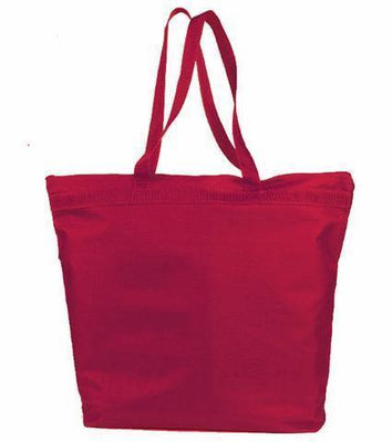 BAGANDTOTE Polyester RED Large Polyester Zippered Tote Bags
