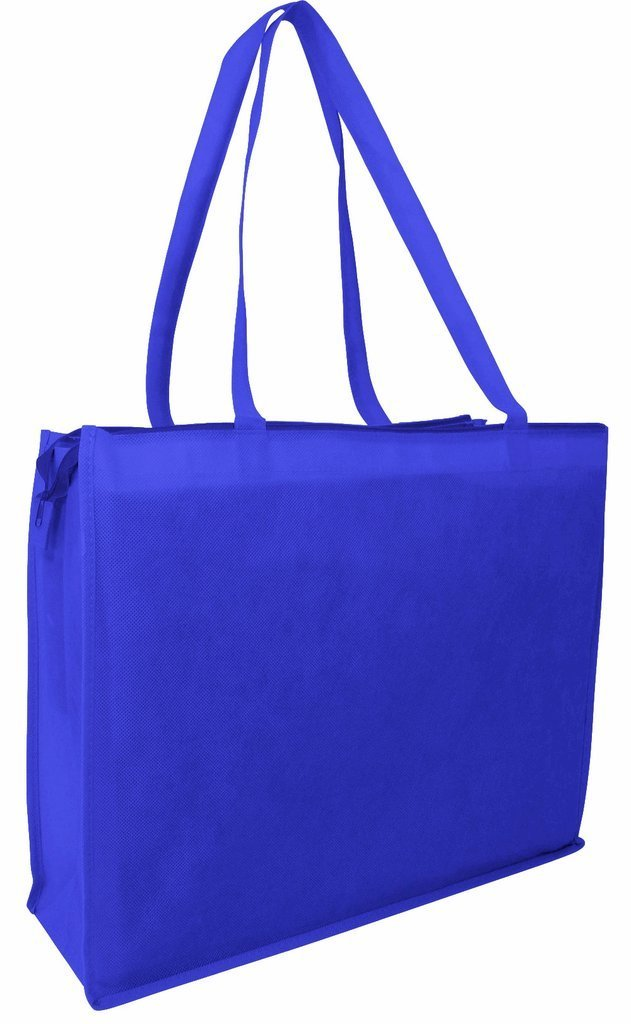 BAGANDTOTE Polyester ROYAL Zippered Large Tote Bags - Reusable Grocery Bags