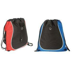 BAGANDTOTE Polyester Tri-Color Cool Drawstring Bag / Cinch Pack