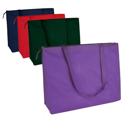 BAGANDTOTE Polyester Zippered Large Tote Bags - Reusable Grocery Bags