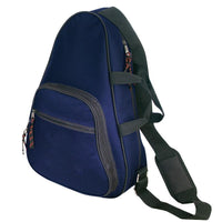 BAGANDTOTE SLING BAG NAVY Deluxe Body Sling Backpack