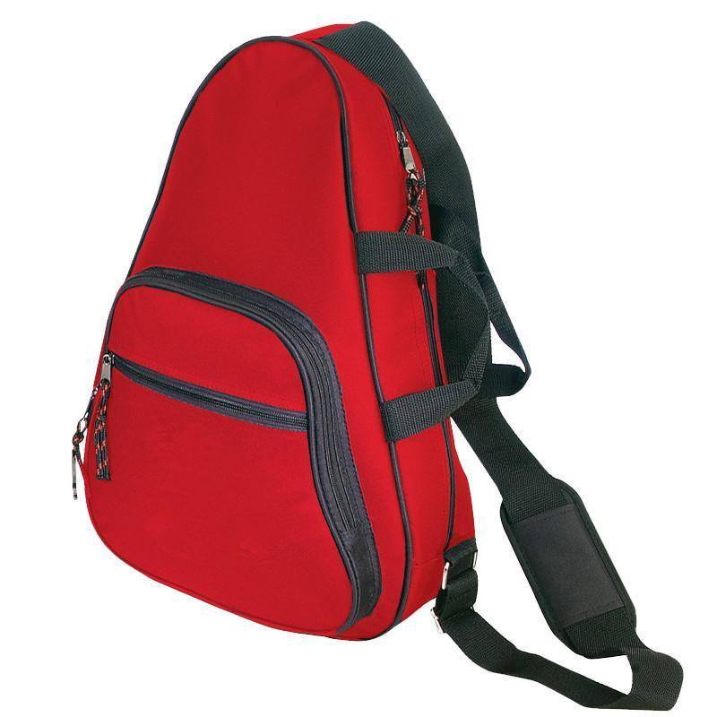 BAGANDTOTE SLING BAG RED Deluxe Body Sling Backpack