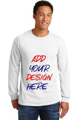 BAGANDTOTE T-Shirt Custom Adult Long Sleeve Pocket T-Shirt  2410