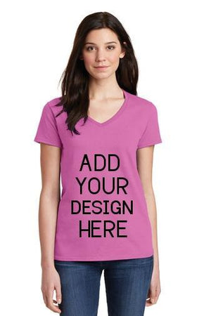 BAGANDTOTE T-Shirt Custom Gildan - Ladies' V-Neck  5V00L