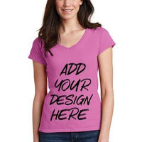 BAGANDTOTE T-Shirt Custom Softstyle Ladies' V-Neck T-Shirt   64V00L