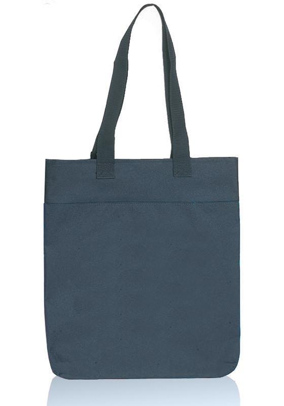 BAGANDTOTE TOTE BAG BLACK Two Tone Polyester Tote Bags With Long Handles
