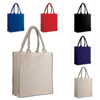 FANCY TOTE BAG 100% COTTON SHEETING FULL SIDE GUSSET