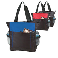 Polyester Daily Zipper Tote Bag