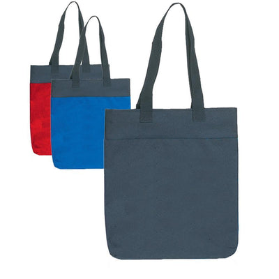 BAGANDTOTE TOTE BAG Two Tone Polyester Tote Bags With Long Handles
