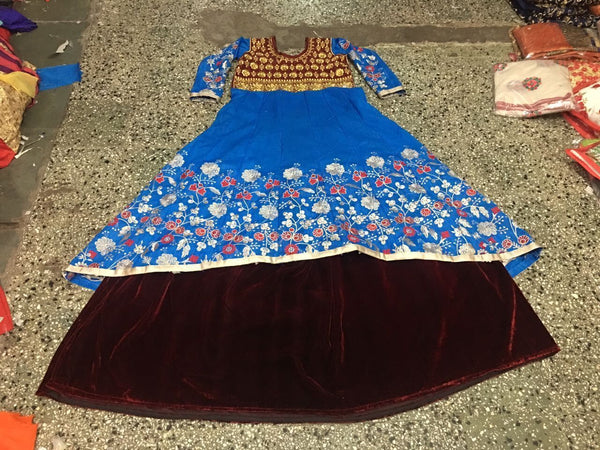 choli in mirror work