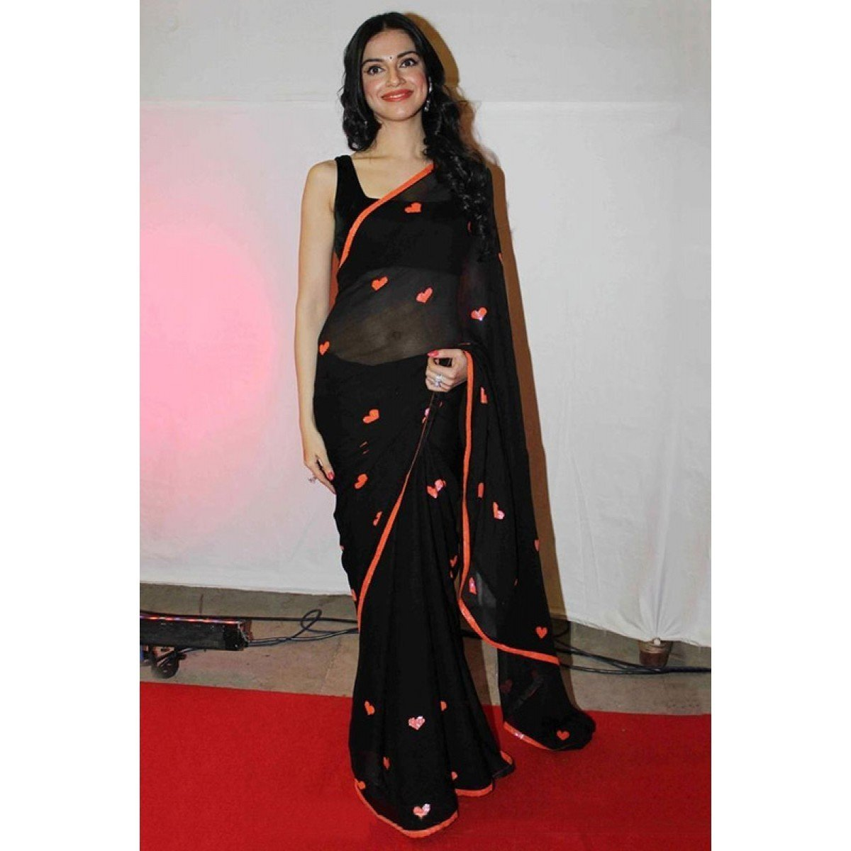 Georgette Black Bollywood Designer Saree