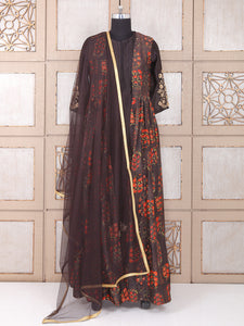 Black Color Silk Palazzo Suit