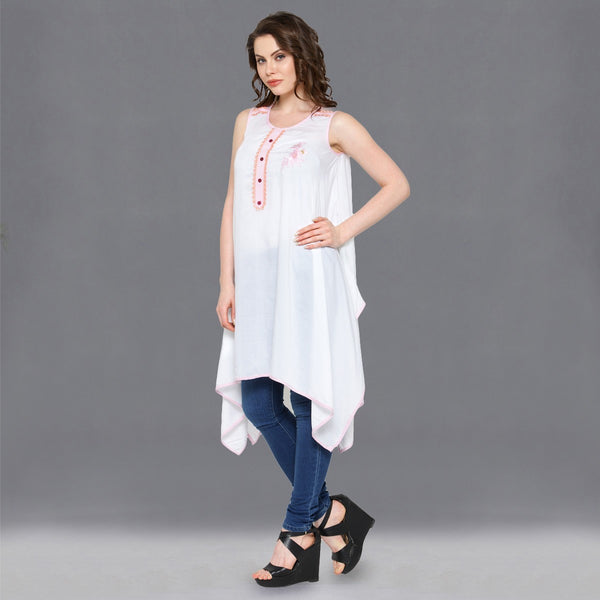 Designers Satin Off White Plain Flare Dress