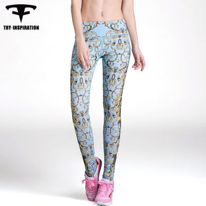 INSPIRATION Fitness Yoga Pants Print Quick-dry
