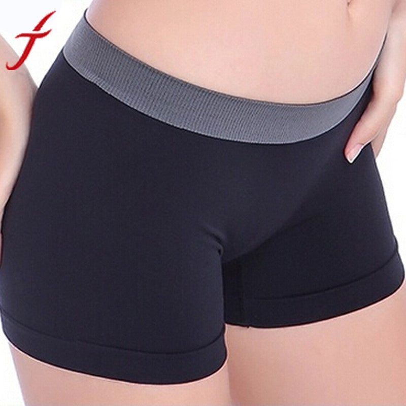 Exercise Workout Waistband Skinny Shorts White Hot Pink Black