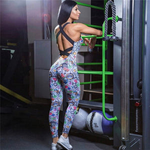 Jumpsuit Women Sexy Sleeveless Gym Set