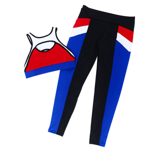 Workout Suit Women Bra Top Legging Pants 2 Piece Set